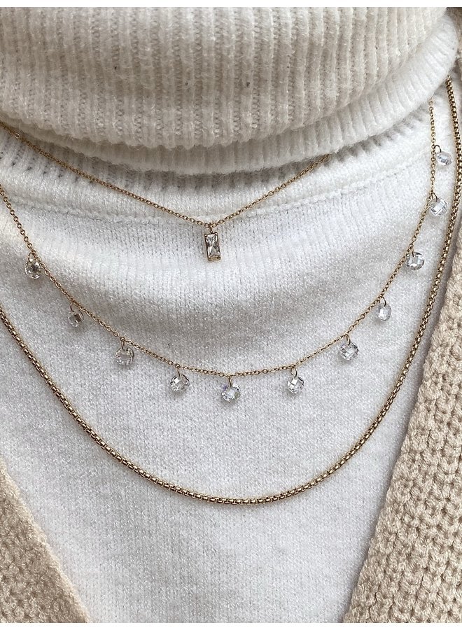 ICE AGE STAINLESS STEEL NECKLACE