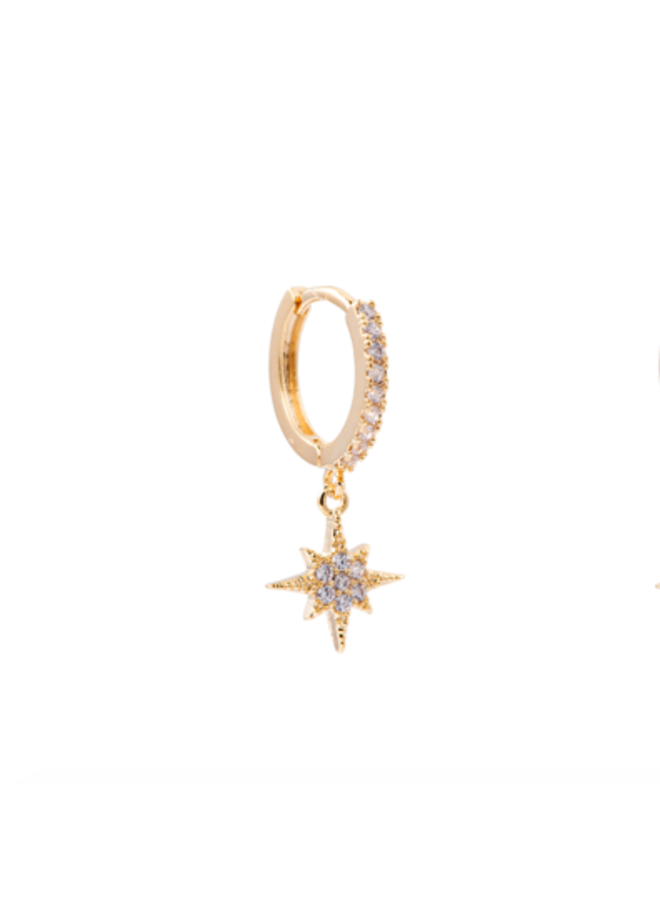 NORTHERN STAR EARRING - GOLD