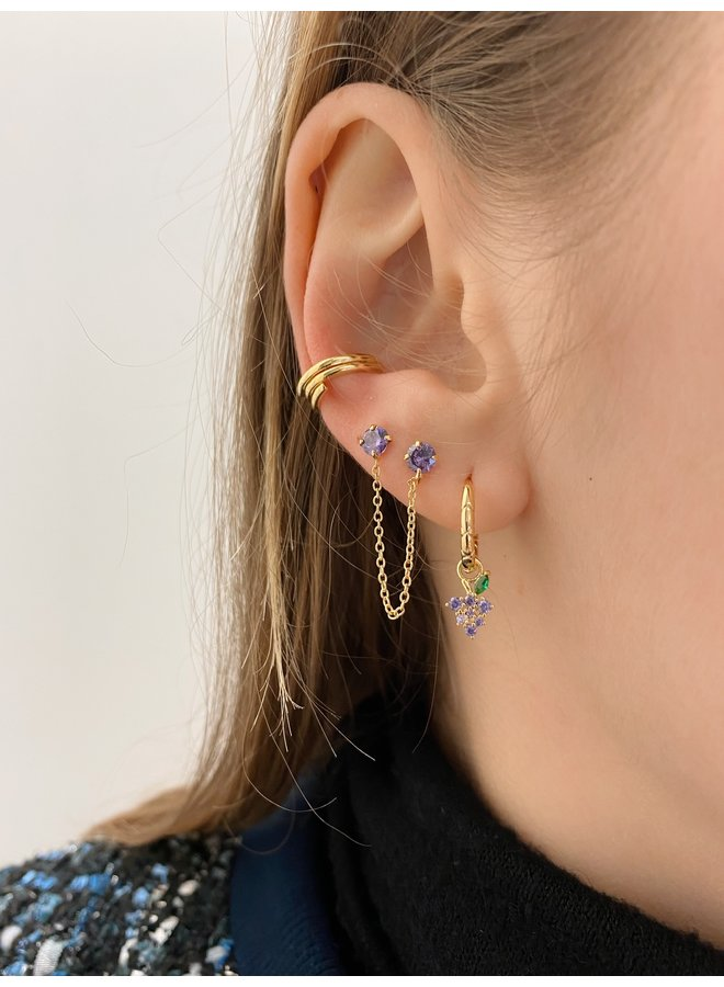DOUBLE PLATED EARRING - LILAC