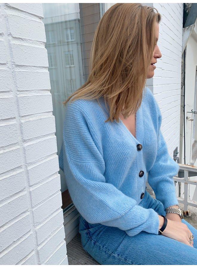 LE TREND - LUNA CARDIGAN BABY BLUE
