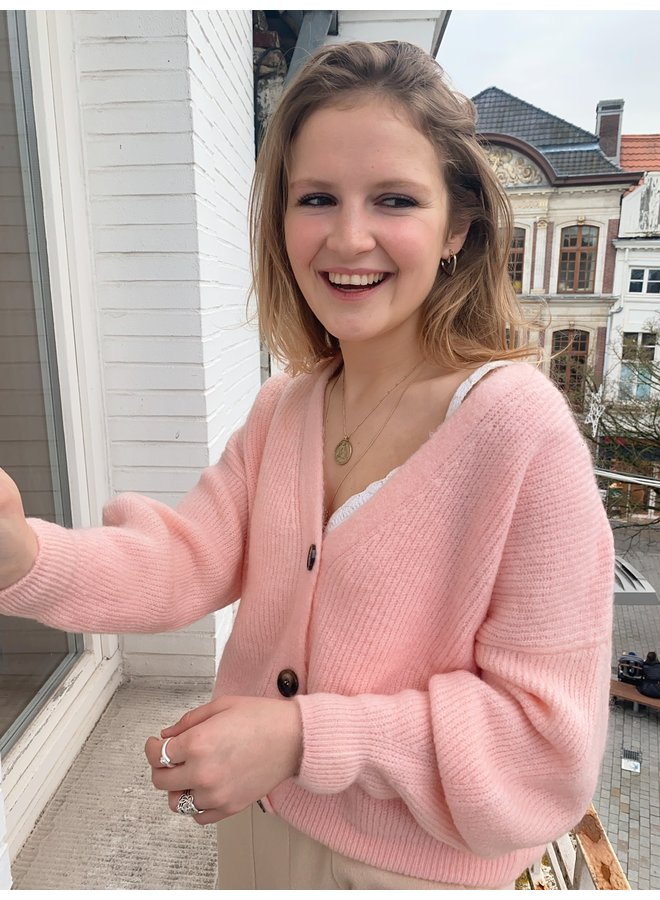 LE TREND - LUNA CARDIGAN CANDY PINK