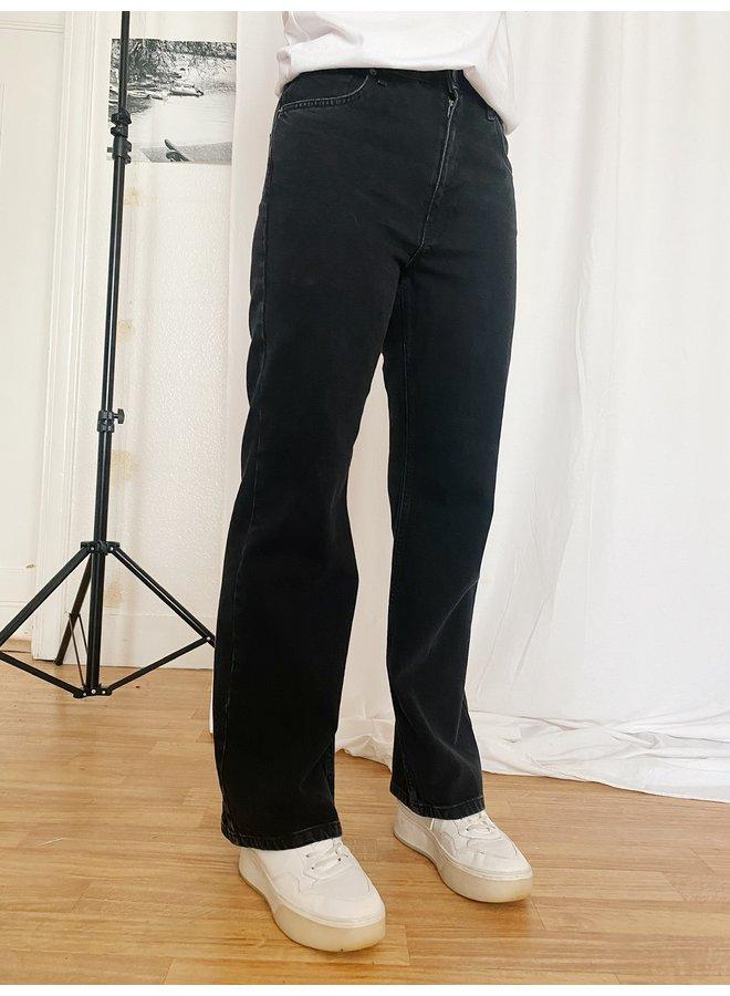 NA-KD - WIDE LEG JEANS BLACK