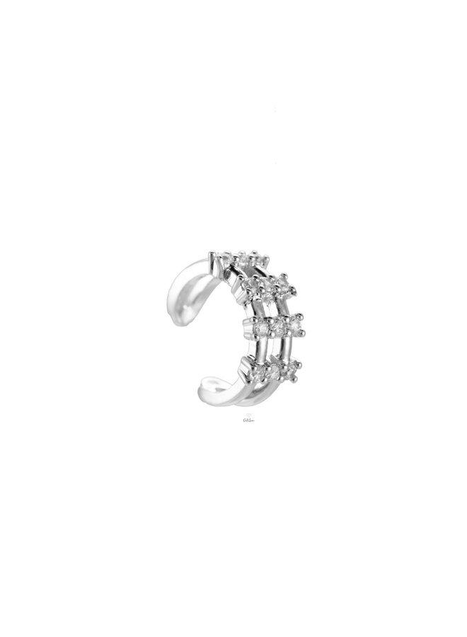 AURORA EAR CUFF - SILVER