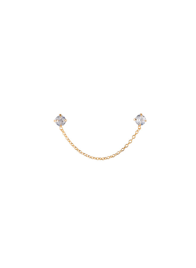 DOUBLE  PLATED EARRING - GOLD