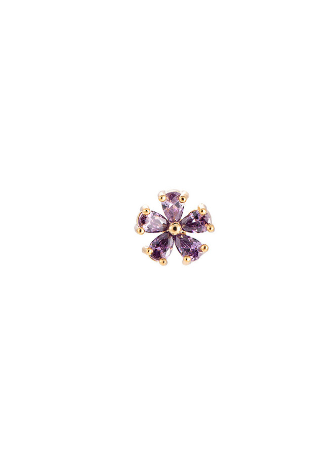 SPARKLING FLOWER EARRING - LILAC