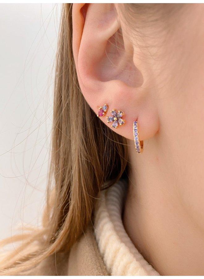 SHINING HOOP EARRING - LILAC