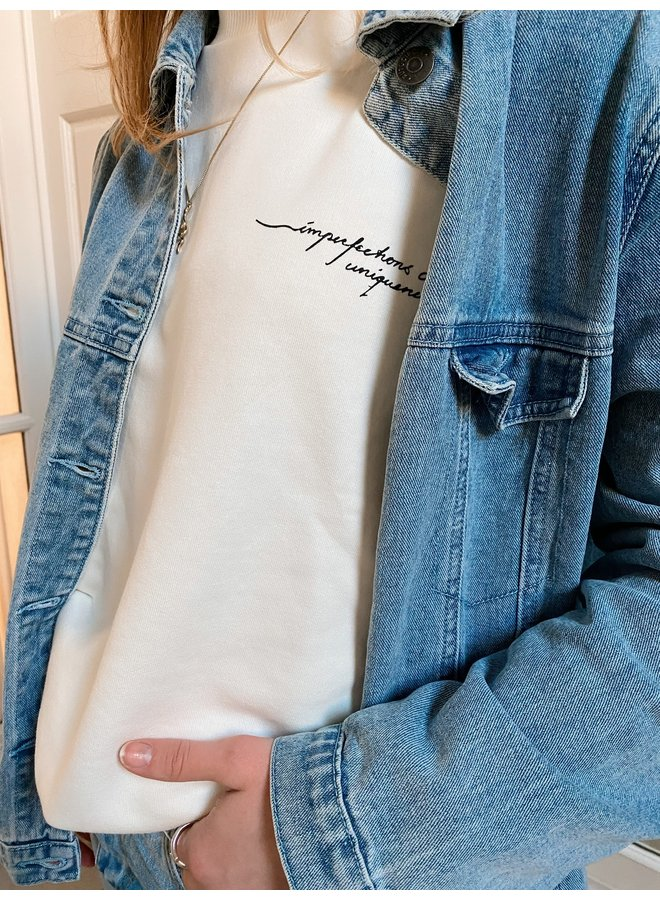 QUOTE PRINTED SWEATER