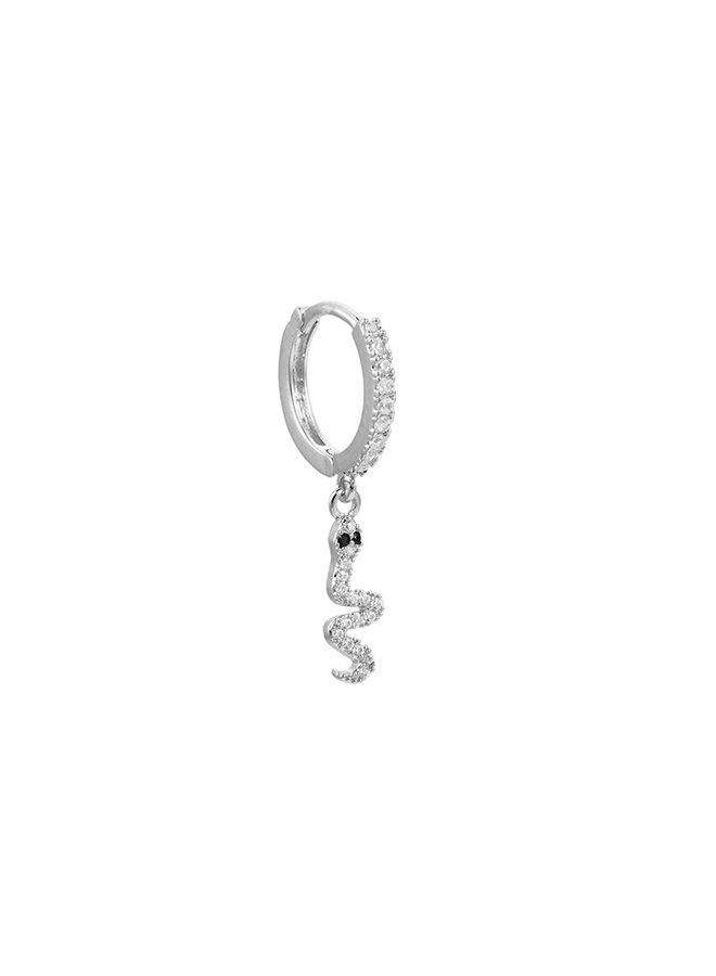 SNAKE 2.0 PLATED EARRING - SILVER