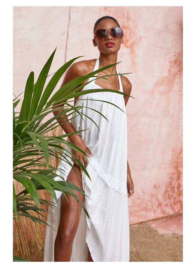 NURIA MAXI DRESS - WHITE