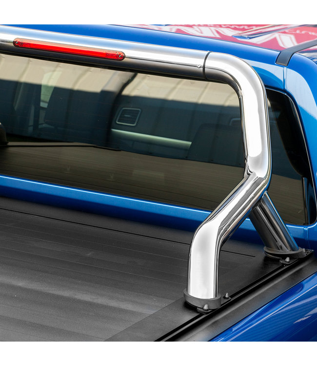 Truckman Volkswagen Amarok MK1, MK2 Double Cab (2010-nu) Retrax Tonneau Roller Cover met RVS Rollbar