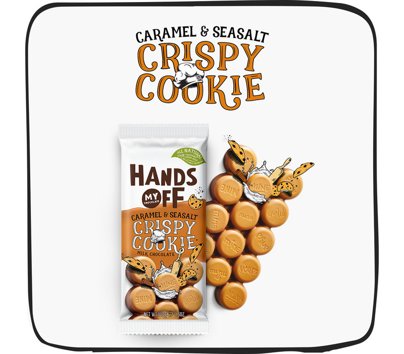 Crispy Cookie Caramel & Seasalt per box (12 pcs.)