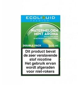 Ecoliquid Premium - Watermeloen & Mint 2x10ml