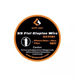 GeekVape SS Flat Clapton Wire - 10ft