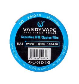 Vandy Vape KA1 Superfine MTL Clapton Wire 30ga + 38ga 10ft