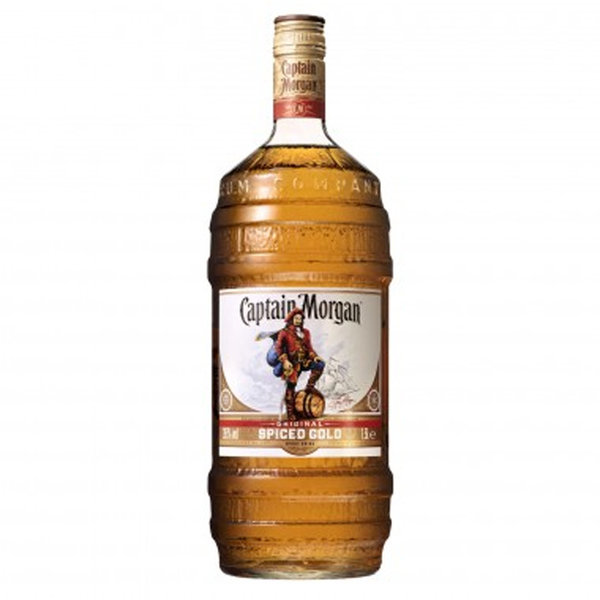 Captain Morgan Spiced Gold barrel bottle 1.5L