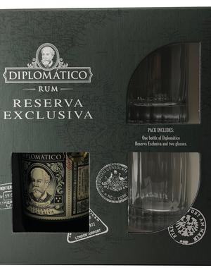 Diplomatico Reserva Exclusiva Gift Pack met 2 glazen