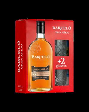 Barcelo Gran Anejo  met 2 glazen