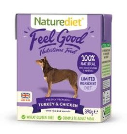 Nature Diet Nature Diet Feel Good Turkey, Chicken And Rice 390g