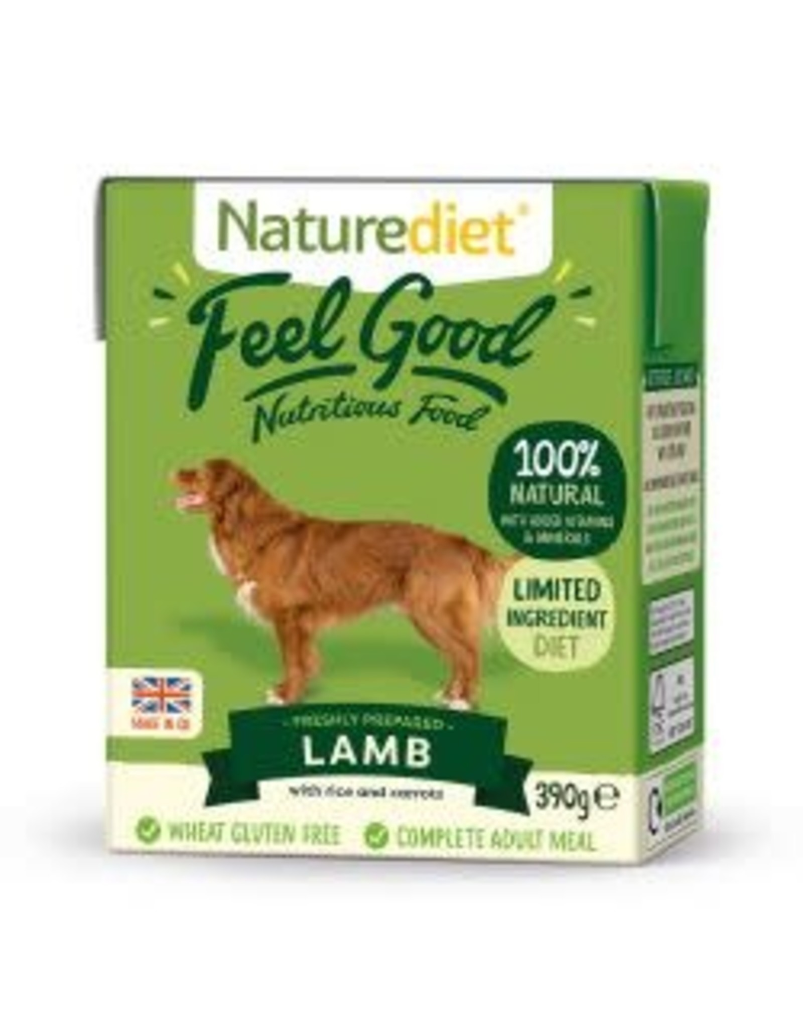 Nature Diet Nature Diet Feel Good Lamb And Rice 390g