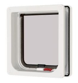 Pet Safe Cat Mate 4 Way Lockable Cat Flap With Door Liner White