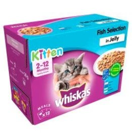 Whiskas Whiskas Kitten Pouches In Jelly 12 Pack