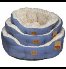Miro Makauri Makauri Luxury Faux Suede Dog Bed Blue & Cream