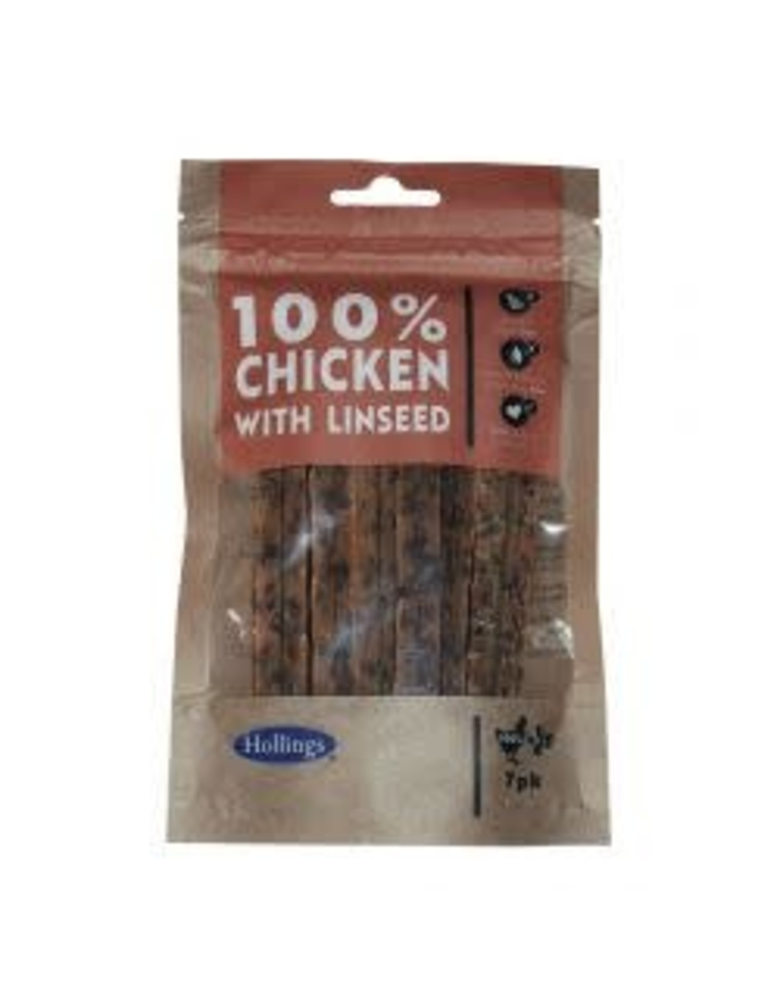 Hollings Hollings Chicken & Linseed Bar 7 Pack