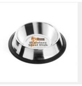 Sharples Stainless Steel Non Slip Cat Bowl