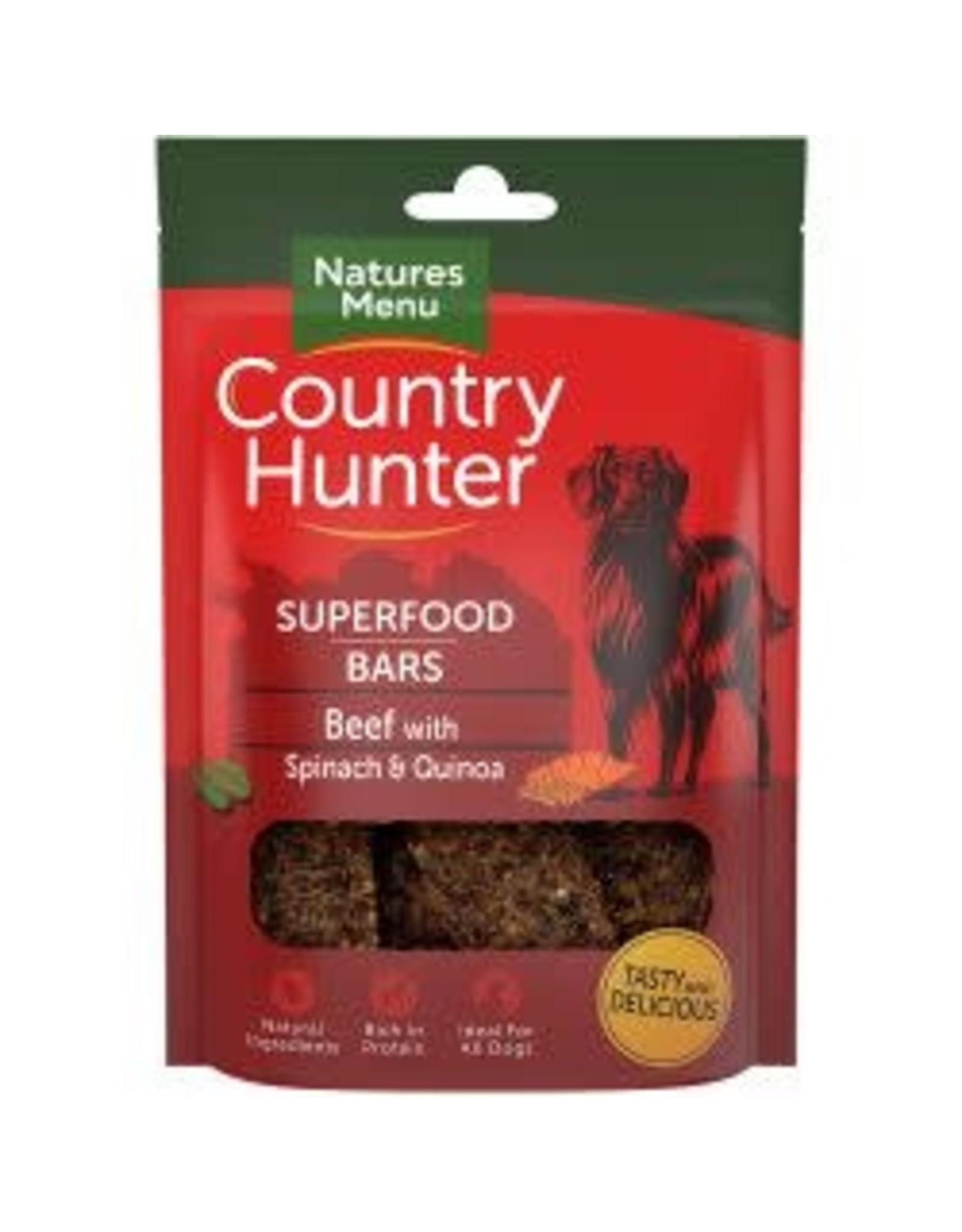 Natures Menu Country Hunter Superfood Bar Beef 100g