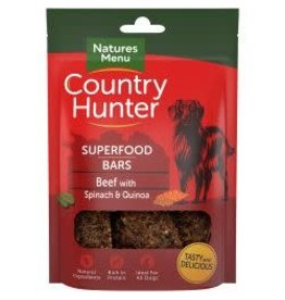 Natures Menu Country Hunter Superfood Bar Beef 100g