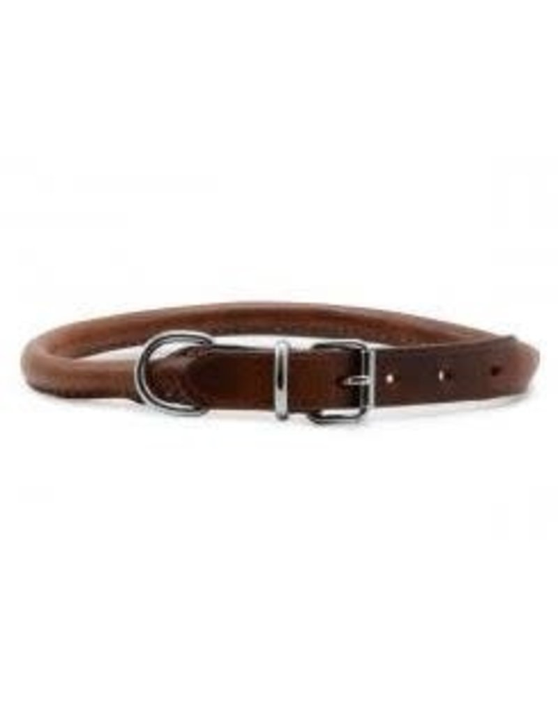 Ancol Ancol Round Leather Collar Chestnut