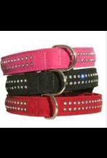 Miro Makauri Makauri Diamante Velvet Dog Collar 20mmx50cm Black