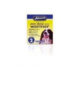 Johnsons Veterinary Products Johnsons One Dose Wormer Size 2