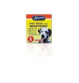 Johnsons Veterinary Products Johnsons One Dose Wormer Size 3
