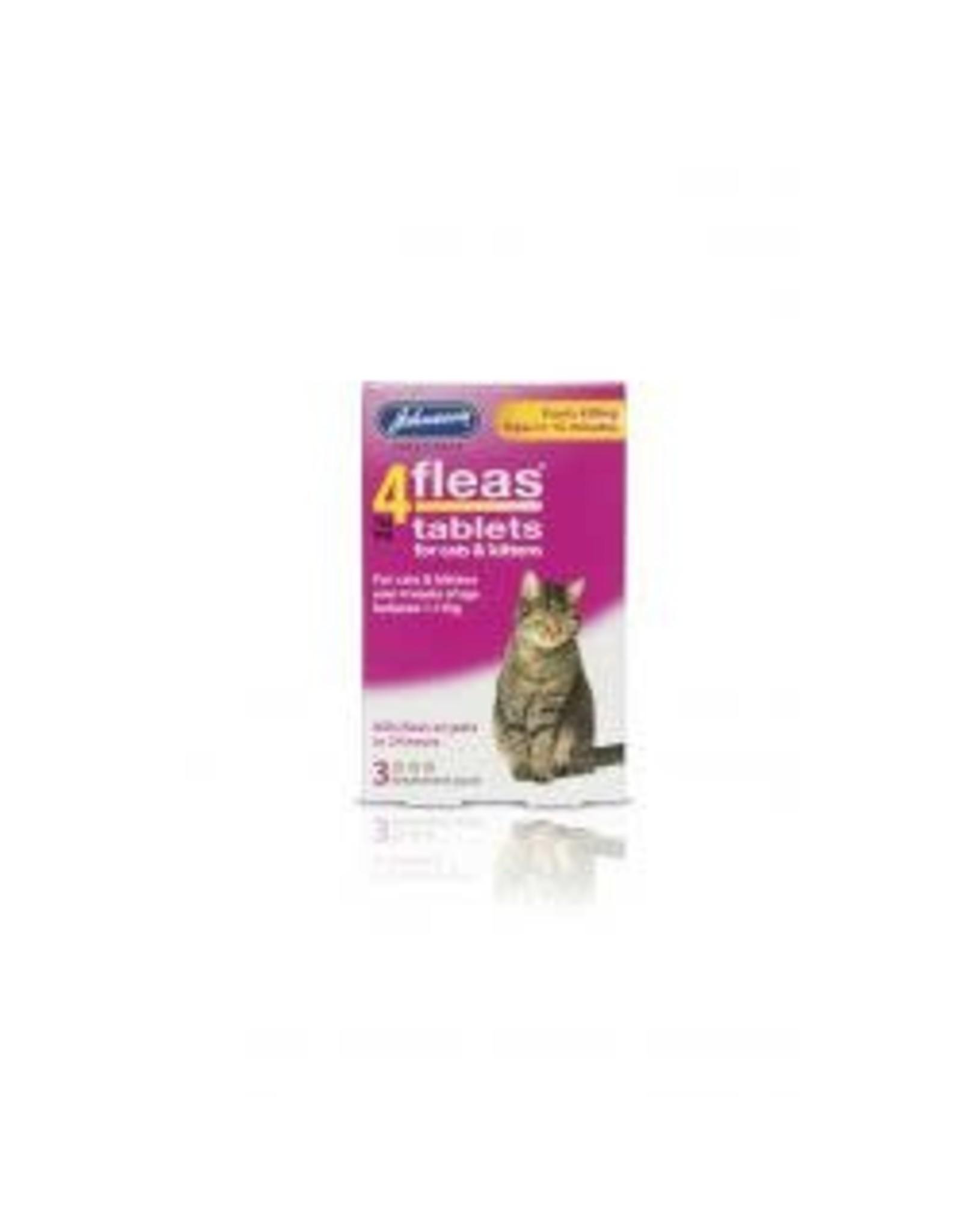 Johnsons Veterinary Products Johnsons 4Fleas Cat/Kitten 3 Tablets