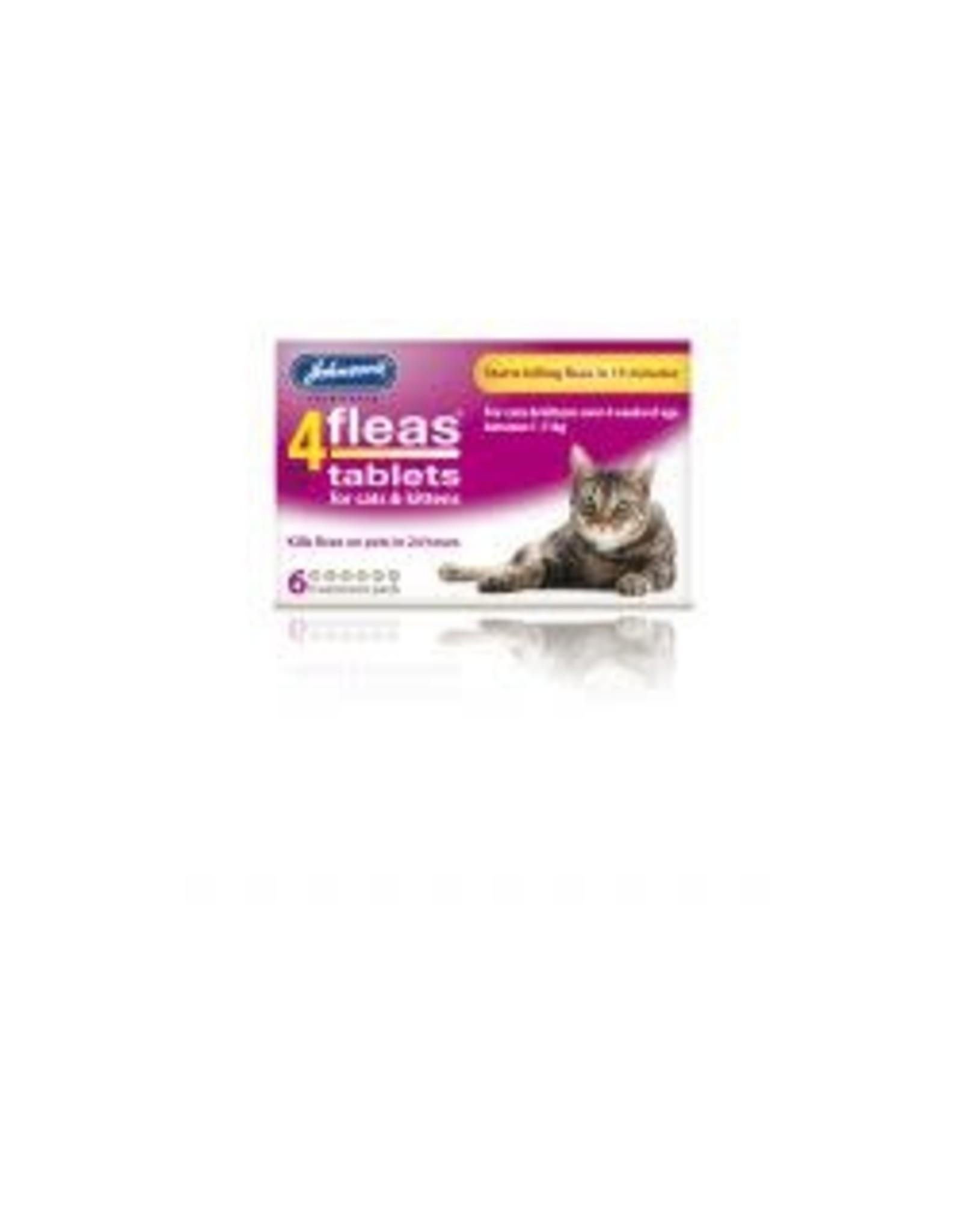 Johnsons Veterinary Products Johnsons 4Fleas Cat/Kitten 6 Tablets
