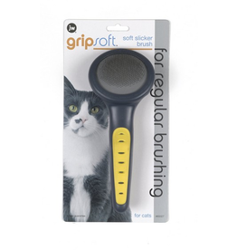JW JW Grip Soft  Cat Slicker Brush