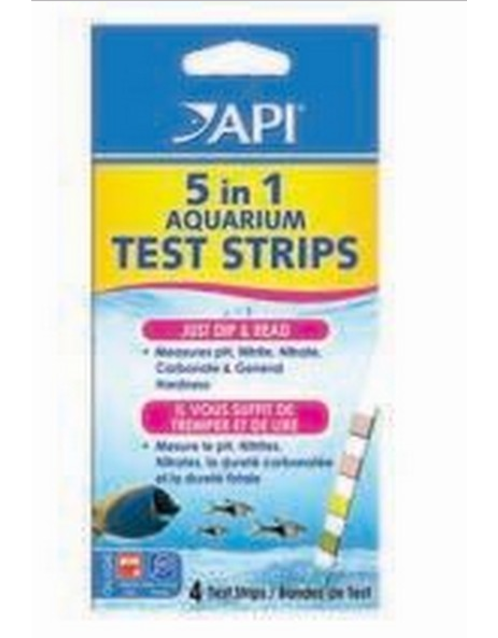 API API 5 in 1 Aquarium Test Strips (4pack)