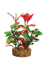 Aqua Spectra AQ Plant With Sandstone Base 4.4cm  Red