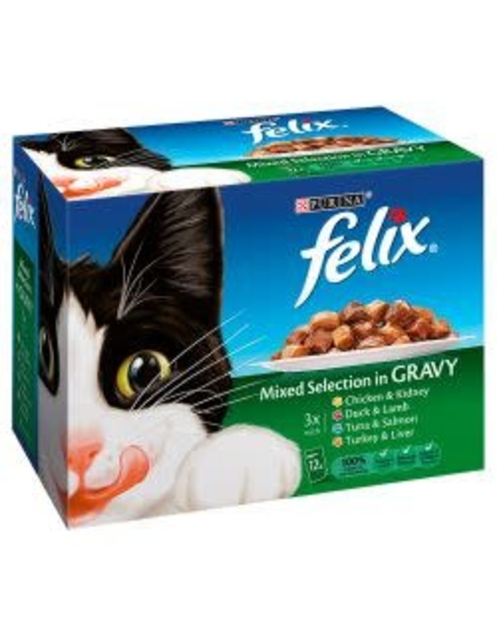 Felix Felix Cat Pouch Mixed Selection In Gravy 12 Pack