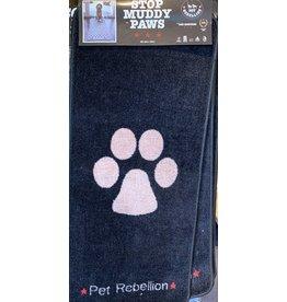 Pet Rebellion Stop Muddy Paws Black/Beige Mat