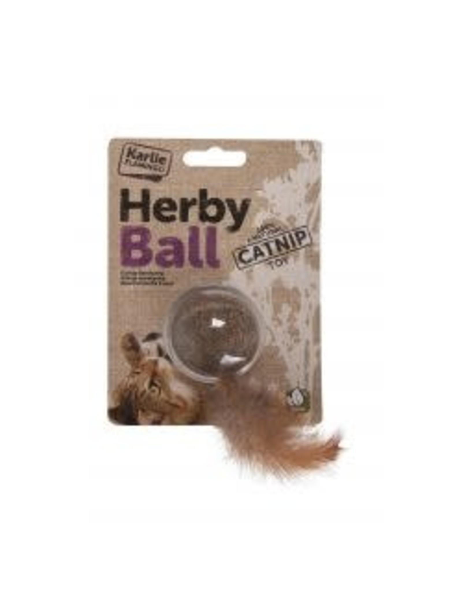 Karlie Herby Ball Catnip Toy