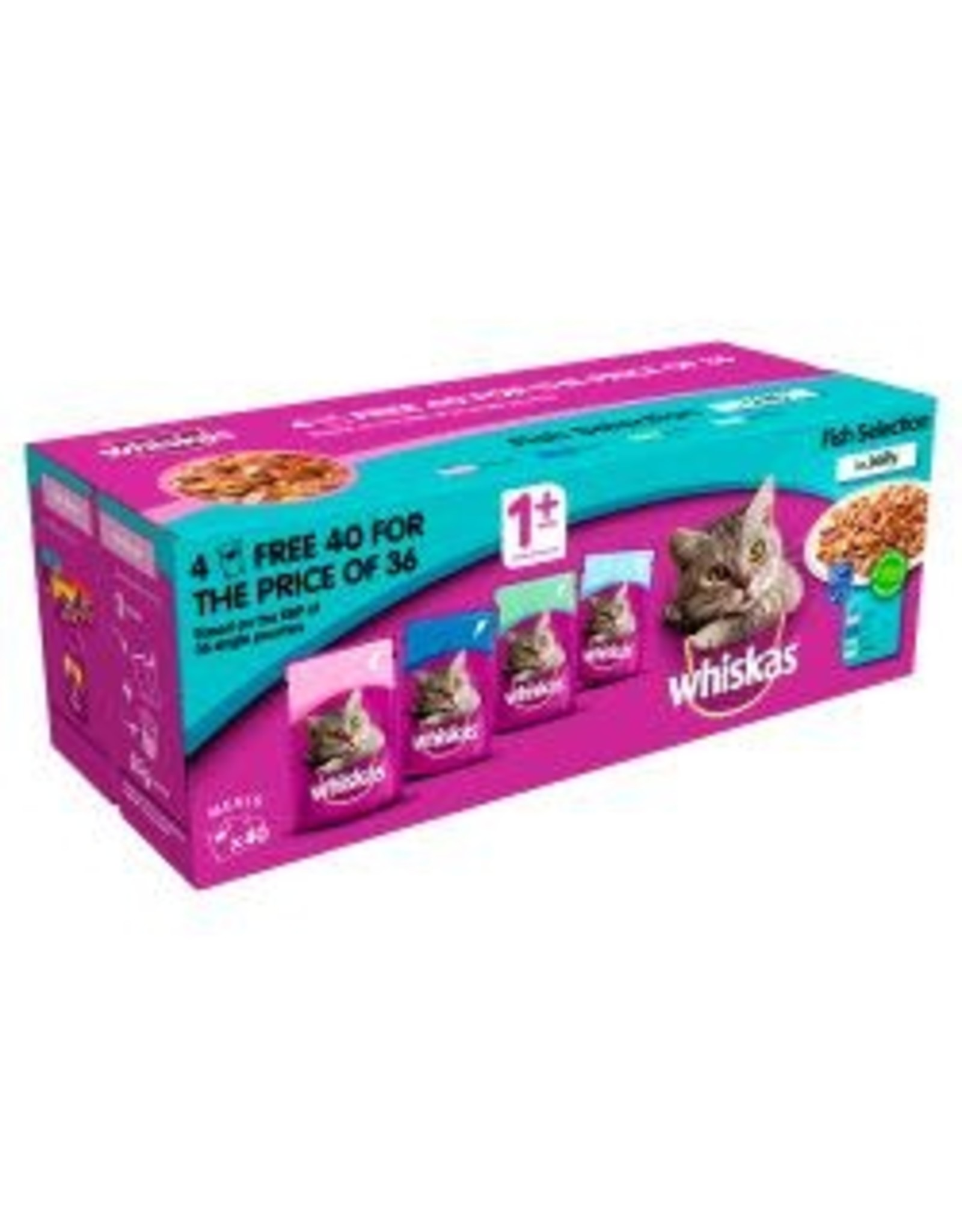 Whiskas Whiskas 1+ Cat Pouches Fish Selection 40 Pack
