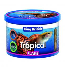 King British King British Tropical Fish Flake Food 55g