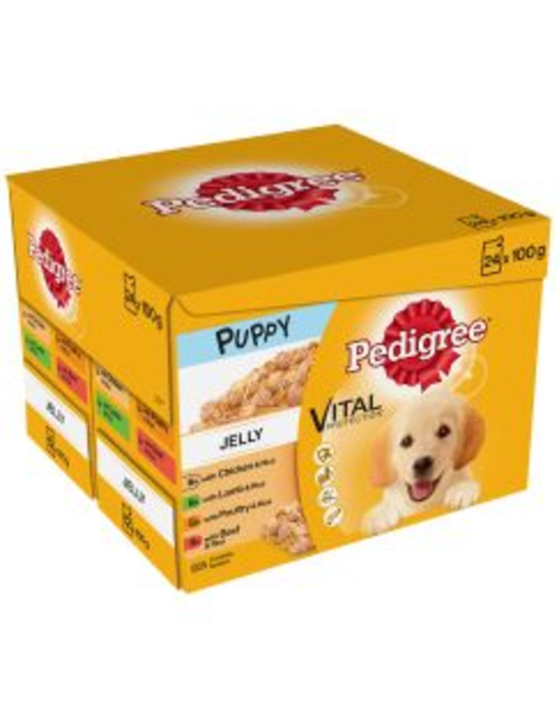 Pedigree Pedigree Puppy Pouches Mixed Selection in Jelly 24x100g