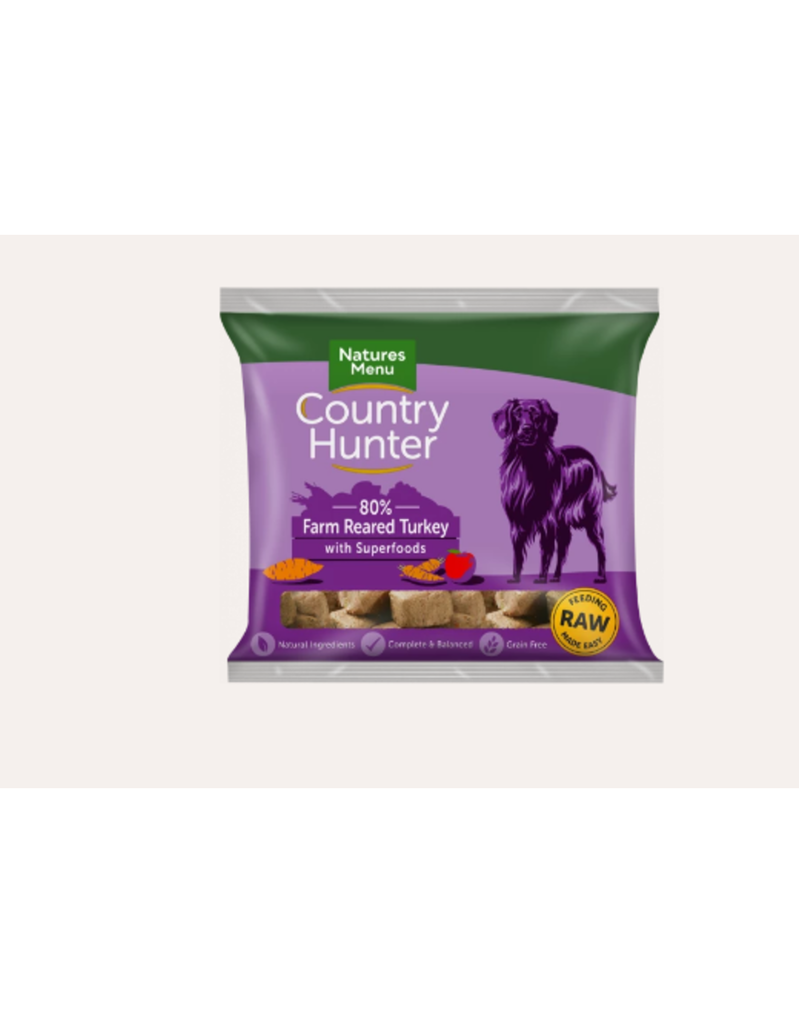 Natures Menu Country Hunter Nuggets Farm Reared Turkey 1kg