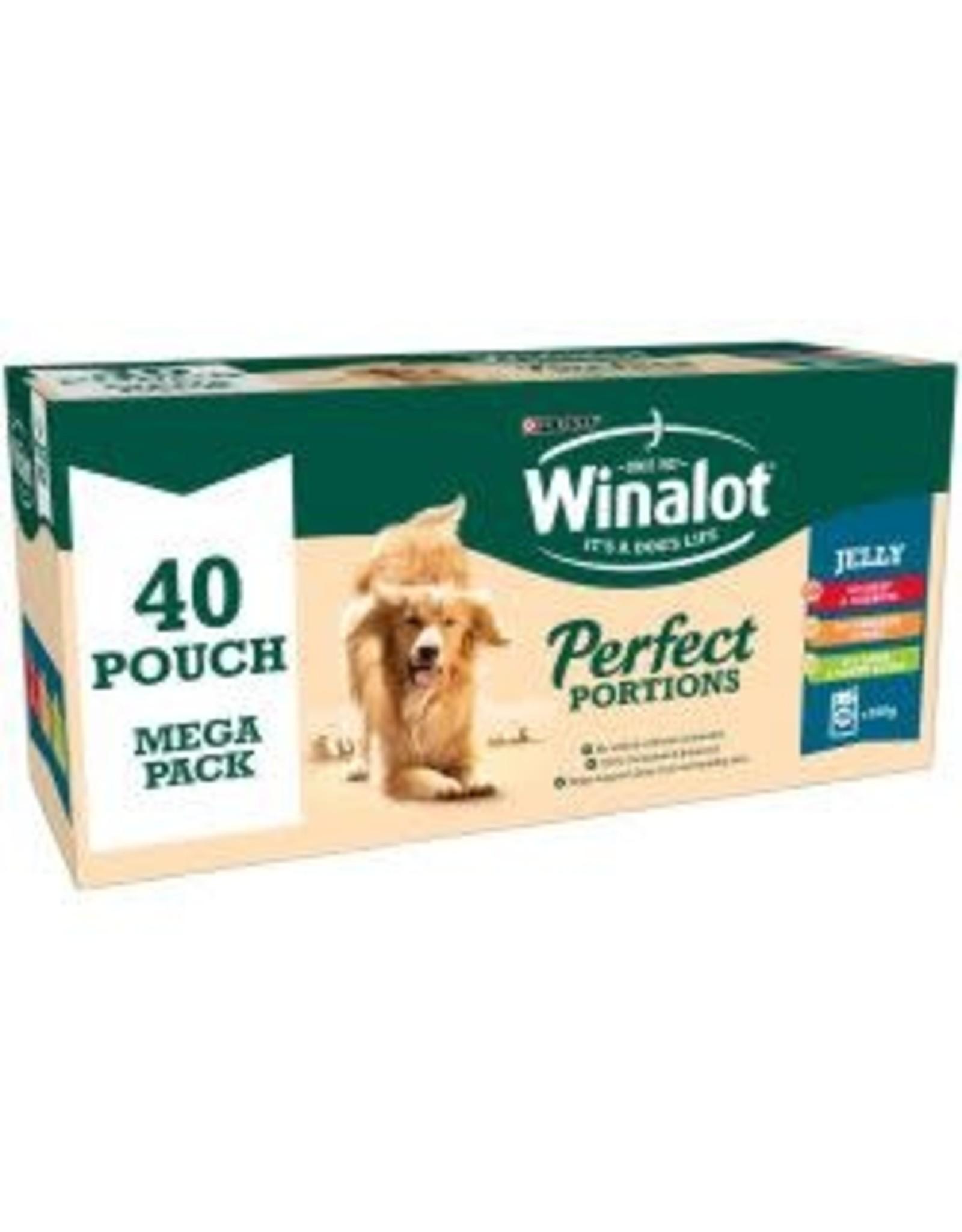 Winalot Winalot Pouch Mixed Chunks In Jelly 40 Pack