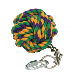 Happy Pet Nuts For Knots Ball On Chain Bird Toy