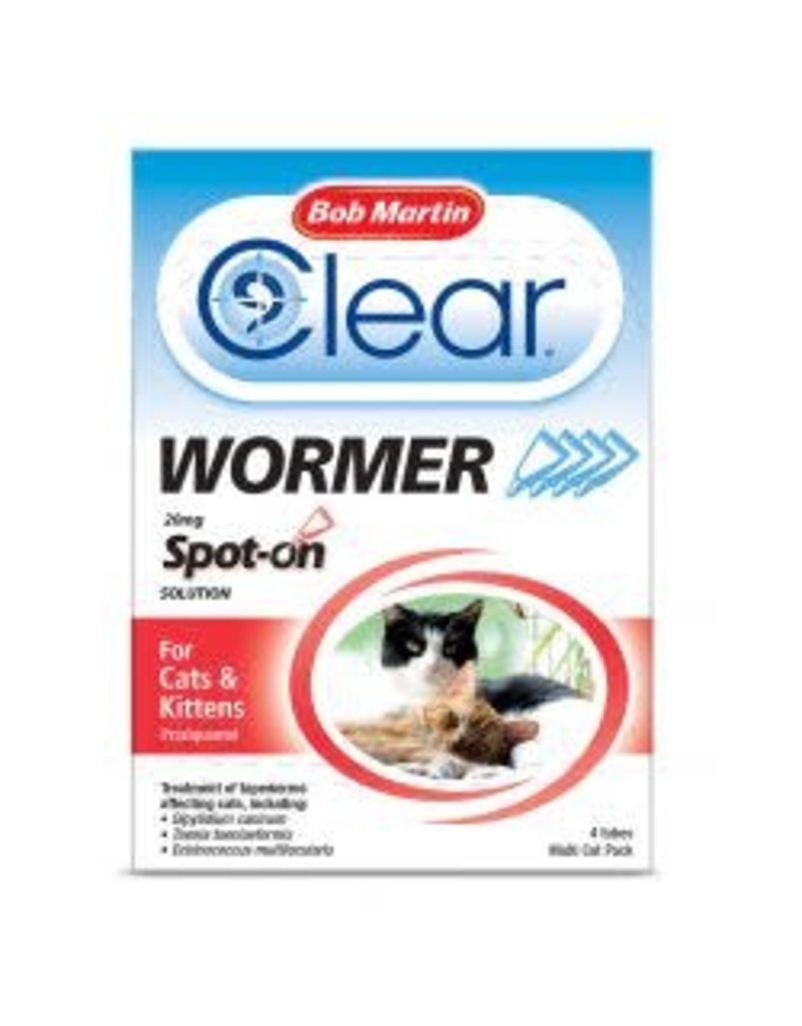 Bob Martin BM Spot On Wormer Cat & Kitten 4 Tube