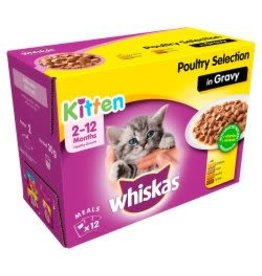 Whiskas Whiskas Kitten Pouches In Gravy Poultry 12 Pack